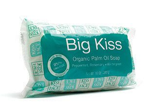 DROPPED: Kiss My Face - Big Kiss Organic Palm Oil Soap Peppermint, Rosemary, Wintergreen - 10 oz.