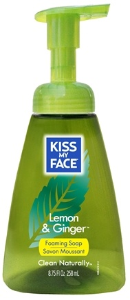 DROPPED: Kiss My Face - Liquid Soap Self Foaming Lemon & Ginger - 8.75 oz. CLEARANCE PRICED
