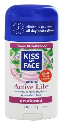 DROPPED: Kiss My Face - Natural Active Life Deodorant Stick Aluminum Free Peaceful Patchouli - 2.48 oz.