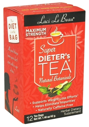 Zoom View - Super Dieter's Tea Maximum Strength Caffeine Free