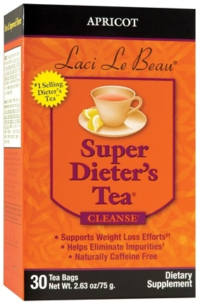 DROPPED: Laci Le Beau - Super Dieter's Tea Apricot Caffeine Free - 30 Tea Bags CLEARANCE PRICED