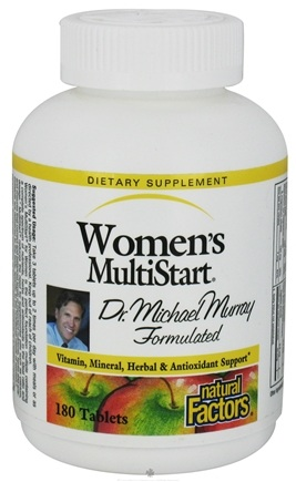 DROPPED: Natural Factors - Dr. Murray's Women's Multistart - 180 Tablets CLEARANCED PRICED