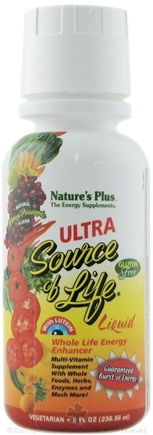 DROPPED: Nature's Plus - Ultra Source of Life Liquid Clearance Priced Mango Pineapple Flavor - 8 oz.