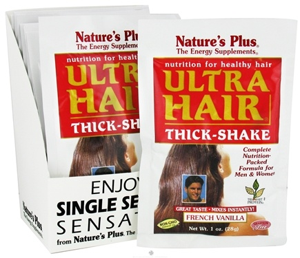 DROPPED: Nature's Plus - Ultra Hair Thick Shake Packets French Vanilla - 1 Packet