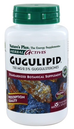DROPPED: Nature's Plus - Herbal Actives Gugulipid 750 mg. - 60 Vegetarian Capsules