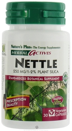 DROPPED: Nature's Plus - Herbal Actives Nettle 250 mg. - 30 Vegetarian Capsules CLEARANCE PRICED