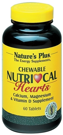 DROPPED: Nature's Plus - Nutri-Cal Hearts Chewable - 60 Chewable Tablets CLEARANCE PRICED