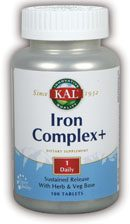 DROPPED: Kal - Iron Complex Plus - 100 Tablets