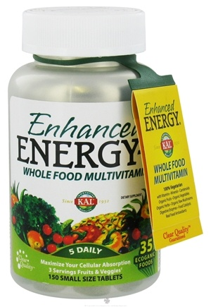 DROPPED: Kal - Enhanced Energy-S Whole Food MultiVitamin Small Tabs - 150 Vegetarian Tablets