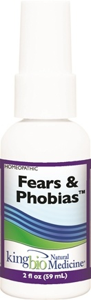 DROPPED: King Bio - Homeopathic Natural Medicine Fears & Phobias - 2 oz. CLEARANCE PRICED