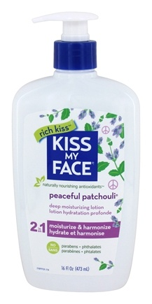Kiss My Face Ultra Moisturizer Peaceful Patchouli 4 oz Bye Bye Blemish Dry Lotion Drying 1 oz. (Case of 6)