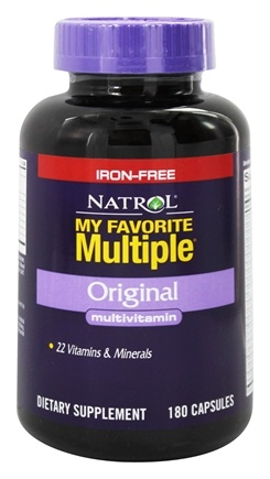 Natrol - My Favorite Multiple Original Multivitamin Iron-Free - 180 Capsules