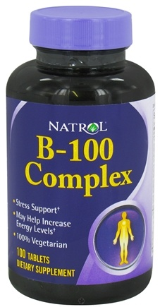 DROPPED: Natrol - B-100 Complex - 100 Tablets CLEARANCE PRICED