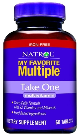 DROPPED: Natrol - My Favorite Multiple No Iron Take One - 60 Tablets CLEARANCE PRICED