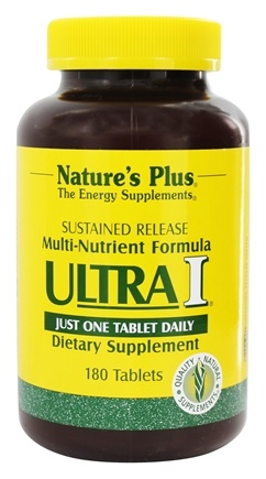 DROPPED: Nature's Plus - Ultra I Multi Nutrient Supplement Sustained Release - 180 Tablets