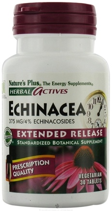 DROPPED: Nature's Plus - Herbal Actives Extended Release Echinacea 375 mg. - 30 Tablets CLEARANCE PRICED