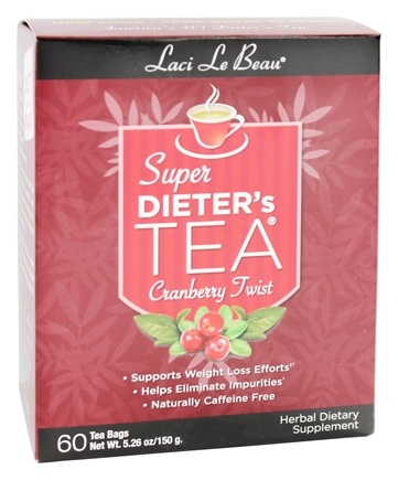 Zoom View - Super Dieter's Tea Cranberry Twist Caffeine Free