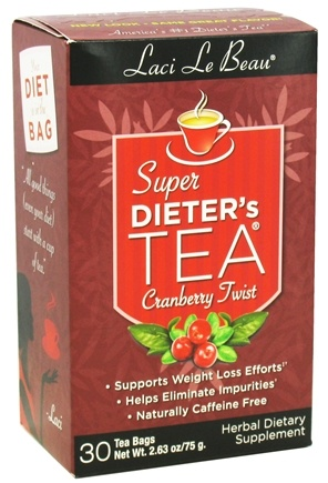 DROPPED: Laci Le Beau - Super Dieter's Tea Cranberry Twist Caffeine Free - 30 Tea Bags