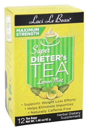 Zoom View - Super Dieter's Tea Maximum Strength Lemon Mint Caffeine Free