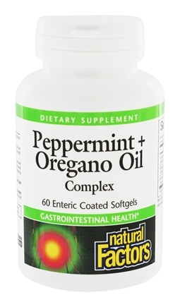 Natural Factors - Dr. Murray's Peppermint & Oregano Oil Complex - 60 Softgels