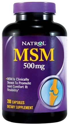 DROPPED: Natrol - MSM 500 mg. - 200 Capsules CLEARANCE PRICED