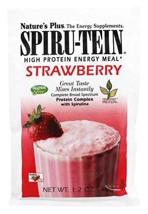 Nature's Plus - Spiru-Tein High Protein Energy Meal Strawberry - 1 Packet