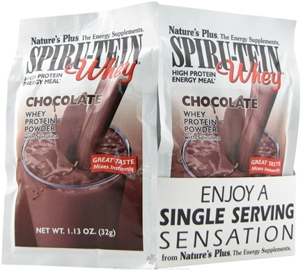DROPPED: Nature's Plus - Spiru-Tein WHEY High Protein Energy Meal Chocolate - 1 Packet CLEARANCE PRICED