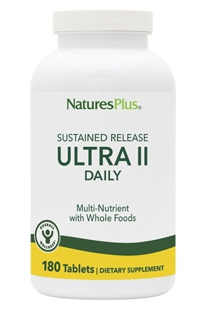 Nature's Plus - Ultra II One-a-Day Multi Nutrient Sustained Release - 180 Tablets