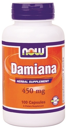 DROPPED: NOW Foods - Damiana Herbal Supplement 450 mg. - 100 Capsules