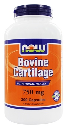 DROPPED: NOW Foods - Bovine Cartilage 750 mg. - 300 Capsules