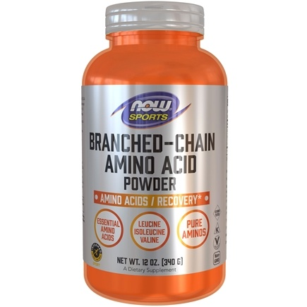 NOW Foods - Branched Chain Amino Acid BCAA Powder - 12 oz.