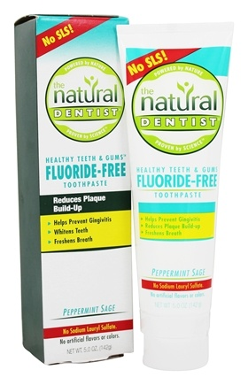 Natural Dentist - Healthy Teeth & Gums Fluoride-Free Toothpaste Peppermint Sage - 5 oz.