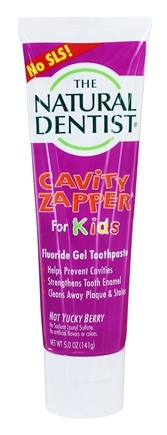 DROPPED: The Natural Dentist - Cavity Zapper Fluoride Gel Toothpaste For Kids Not Yucky Berry - 5 oz.