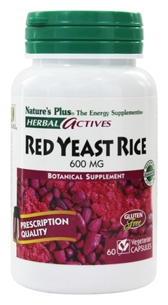 Nature's Plus - Herbal Actives Red Yeast Rice 600 mg. - 60 Vegetarian Capsules