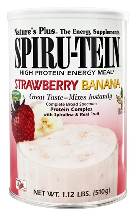 DROPPED: Nature's Plus - Spiru-Tein High Protein Energy Meal Strawberry Banana - 1.12 lbs.