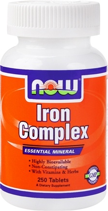 Zoom View - Iron Complex Essential Mineral with Vitamins and Herbs