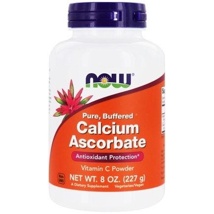 NOW Foods - Calcium Ascorbate 100% Pure Buffered Vitamin C Powder - 8 oz.