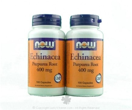 DROPPED: NOW Foods - Echinacea Twin Pack Special 400 mg. - 200 Capsules
