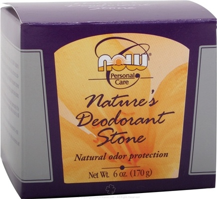 DROPPED: NOW Foods - Nature's Deodorant Stone CLEARANCE PRICED - 6 oz.