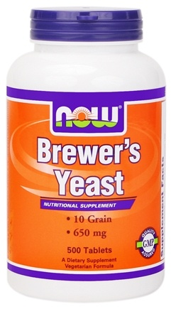 DROPPED: NOW Foods - Brewer's Yeast 650 mg. - 500 Vegetarian Tablets