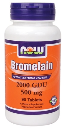 DROPPED: NOW Foods - Bromelain 2400 GDU/g 415 mg. - 90 Tablets