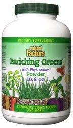 DROPPED: Natural Factors - Enriching Greens Powder with Phytosomes - 10.6 oz.