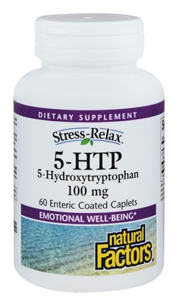 DROPPED: Natural Factors - Stress-Relax 5-HTP 100 mg. - 60 Enteric-Coated Tablets