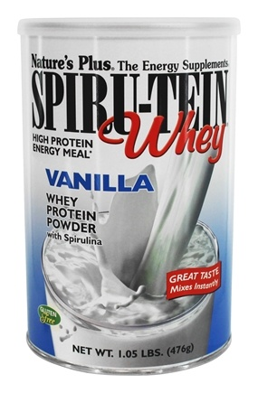Nature's Plus - Spiru-Tein WHEY High Protein Energy Meal Vanilla - 1.05 lbs.