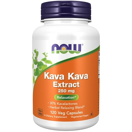 NOW Foods - Kava Kava Extract Stress Support 250 mg. - 120 Capsules