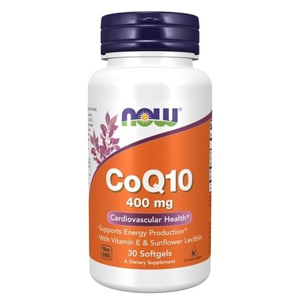 DROPPED: NOW Foods - CoQ10 Cardiovascular Health with Lecithin and Vitamin E High Potency 400 mg. - 30 Softgels