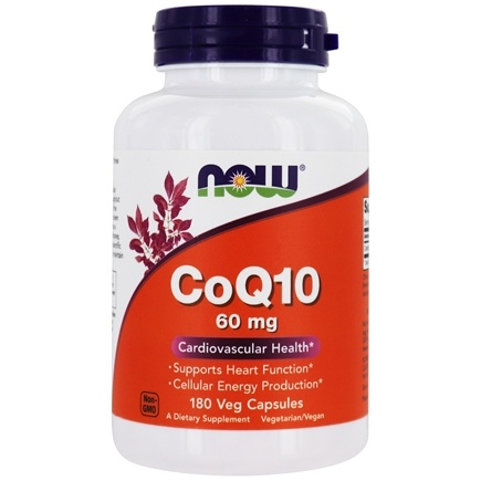 NOW Foods - CoQ10 Cardiovascular Health 60 mg. - 180 Vegetarian Capsules