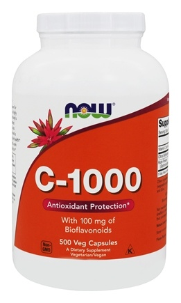 NOW Foods - C1000 with 100mg Bioflavanoids & Rutin - 500 Capsules