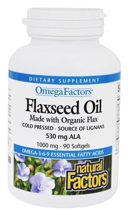 Zoom View - OmegaFactors Flaxseed Oil Made with Organic Flax