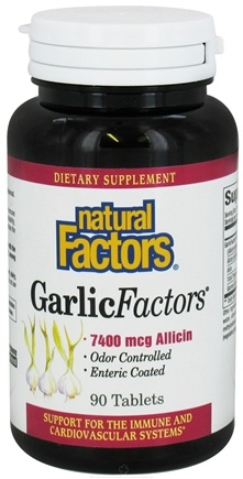 DROPPED: Natural Factors - Garlic Factors - 90 Tablets